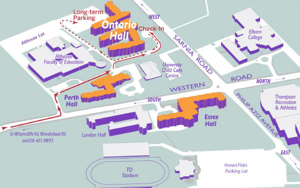 Parking Map - Ontario Hall